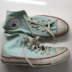 Light Blue Converse sneakers